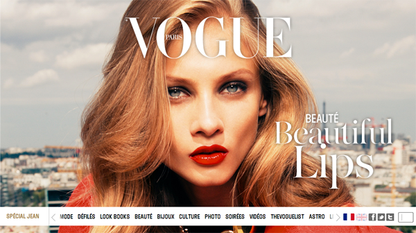 Site web Vogue